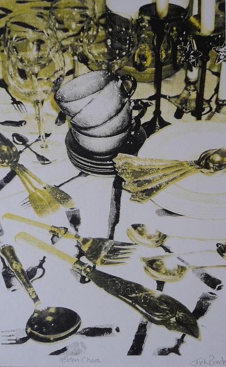 Artwork - Golden Chaos Screenprint Print | Jacki Baxter - Screenprint