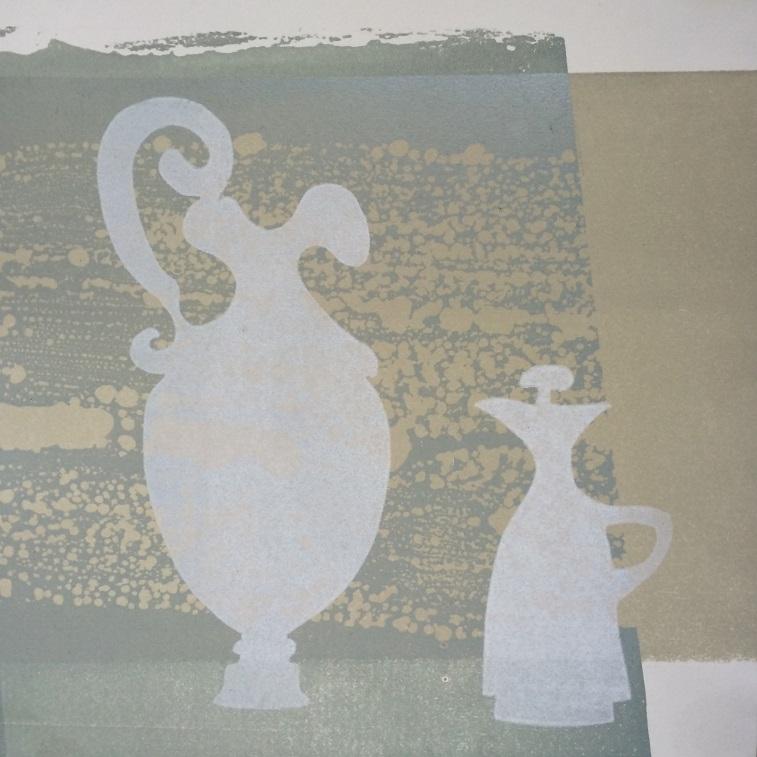 Artwork - In Conversation Etched Lino & stencils Print | Jacki Baxter - Etched Lino & stencils