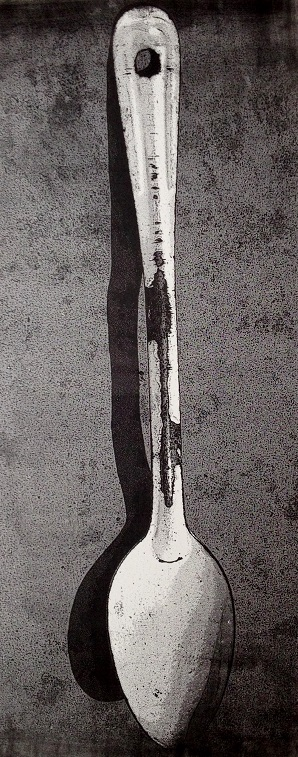 Artwork - Enamel Spoon Offset Lithography Print | Jacki Baxter - Offset Lithography