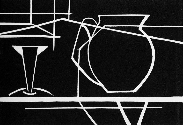 Artwork - Floating linocut Print | Jacki Baxter - linocut