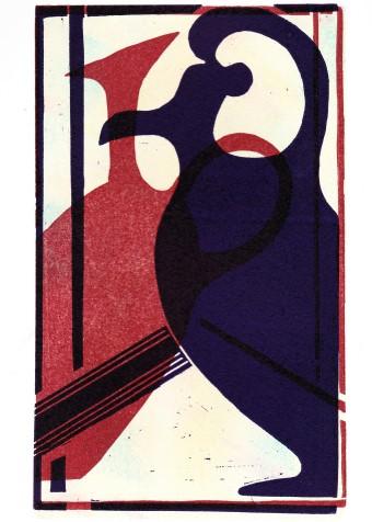 Artwork - Sicily Reflections linocut Print | Jacki Baxter - linocut