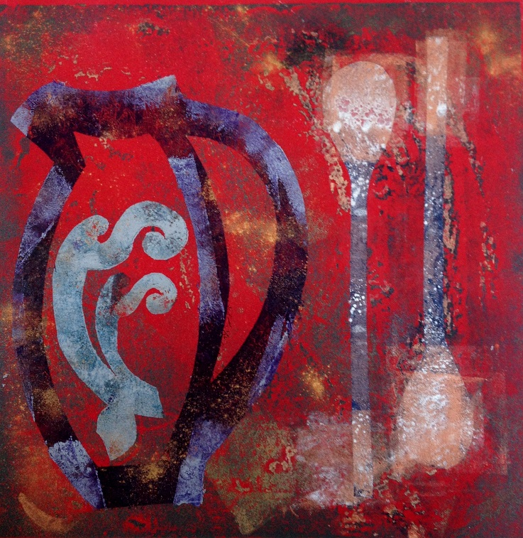 Artwork - Illusions etched lino & stencils Print | Jacki Baxter - etched lino & stencils