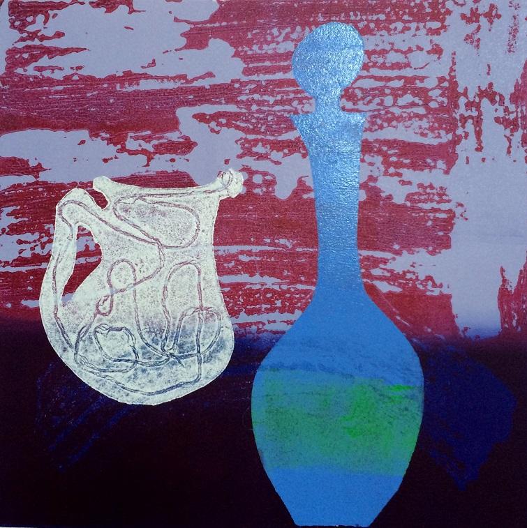 Artwork - Distilltion. No11 etched lino & stencils Print | Jacki Baxter - etched lino & stencils