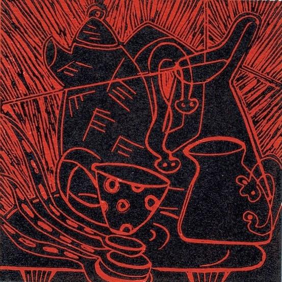 Artwork - Dissention linocut Print | Jacki Baxter - linocut