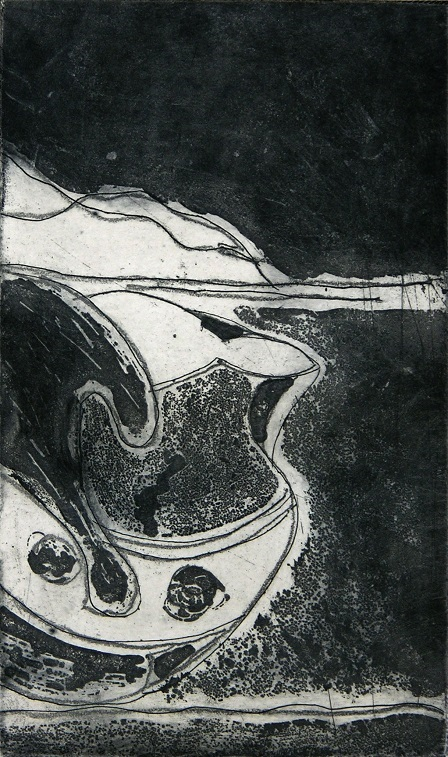 Artwork - Landscape etching Print | Jacki Baxter - etching