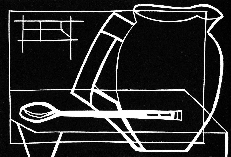 Artwork - Open Window linocut Print | Jacki Baxter - linocut